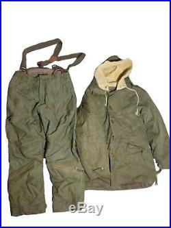 Vtg Korean War B-11 Air Force Jacket & A-9 Pants Military Air Force Sz 38 WWII