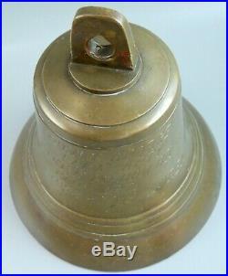 Vtg Korean War Solid Brass/Bronze Authentic Ship/Sailors Bell Awarded to Capt