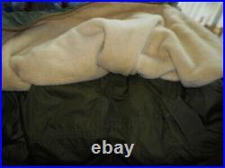 Vtg. M-1951 Korean War Military Fishtail Parka Shell, Mohair Liner, SizeSmall
