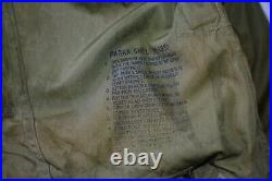 Vtg M-1951 M51 US Army Poplin Fishtail Parka Shell Korean War MOD 25.5 P-P