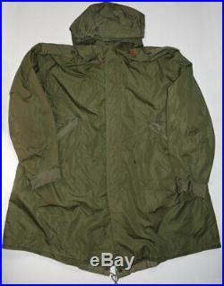 Vtg M51 Fishtail Parka XL Korean War US Army OD Green Cotton Sateen NICE