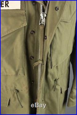 Vtg Men's 1950s 60s NOS M-51 US Army Korean War Field Jacket sz S Short #3599