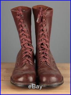 Vtg Men's 1950s Korean War Era US Army Combat Jump Boots sz 10 10.5 #4756s