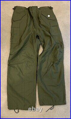 Vtg NOS M51 Field Trousers Pants Large Long M1951 Cargo Sateen Korean War