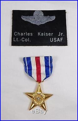 Vtg Named Bronze Star Military Medal Lt. Col. USAF Air Force WWII or Korean War