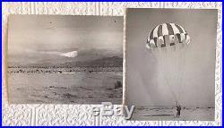 Vtg Original Korean War Era Naval Test Photographs Parachute Unit Rare Military