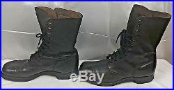 Vtg U. S. Military Combat Boots Korean War Black Endicott Johnson 11 1/2 W FR