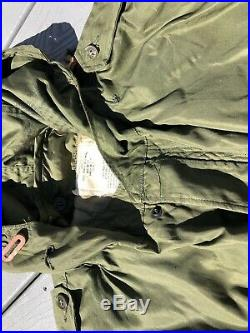Vtg UNISSUED M51 Korean War Era Fishtail Parka withLiner Lg US Army Military 1951