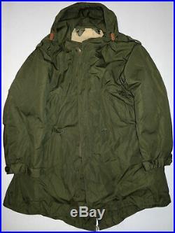 Vtg UNISSUED M51 Korean War Era Fishtail Parka withLiner Lg US Army Military NICE