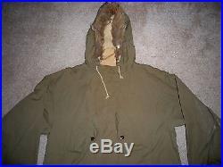 Vtg US Army ROK Korean War Era Reversible Military Fur Jacket Coat Parka Xlarge