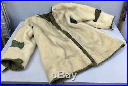Vtg US Korean War M-1951 M-51 SHELL Fishtail Fur Collar PARKA Jacket Liner SMALL