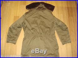 Vtg WW2 or Korean War Alpaca Line B-9 Field Parka Coat Excellent Cond Super Rare