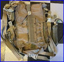 WOW! Korean War US Military Backpack for 28' Parachute With Harness Jun 1952