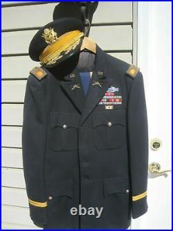 WW II thru Korean War Colonel Armored Cav Uniform with Hat-named