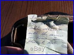 WW2 BALL CAP Korean War SATAN'S HAVEN K-53 RADAR BASE With NOTE GIVING HISTORY