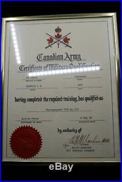 WW2 Canadian Korean War Medal Group RCAF RCE Engineers Photographer Framed Lot