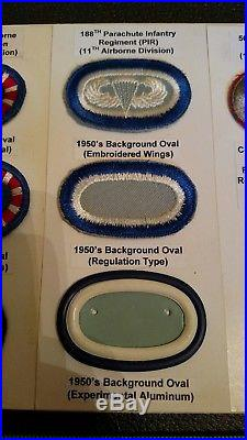 WW2/ Korean War 11th Airborne Ovals Patches Badges Jump Wings Paratrooper