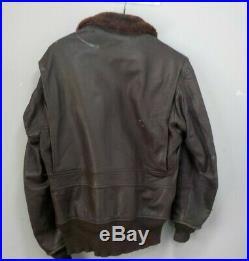 WW2 Korean War Era US Navy G-1 Flight or Pilot's Bomber's Jacket with Fur Collar