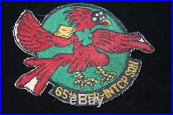 WW2 Korean War Era USAF US Bone Dome Helmet Effects Group 65th Fighter Squadron