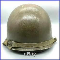 WW2/Korean War US Army Front Seam M-1 Helmet with MSA Liner Complete SB NS CS