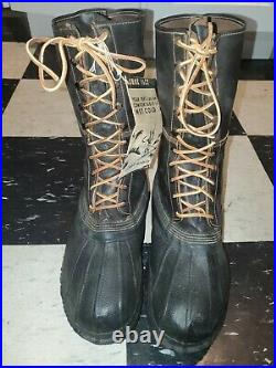 WW2 Korean War US Army Military Shoe Pacs Boots Size 12W NOS