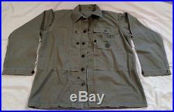 WW2 Korean War USMC Combat Utility Double breasted Jacket ID'd Roy C. Dunmire