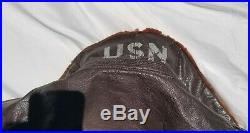 WW2-Korean War Werber Sportswear US Navy G-1 Flight Bomber Jacket Sz 44
