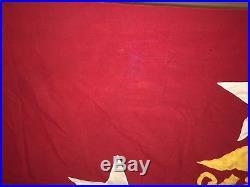 WW2/Korean War era USMC Commandant Flag size 4, Heavy Lead Grommets