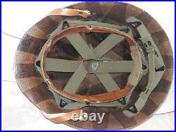 WW2 McCord M1 Combat Helmet Named & Micarta Liner Complete + Net, Korean War