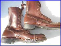 WW2 US Army Jump Boots Size 8XN Korean War June 1953