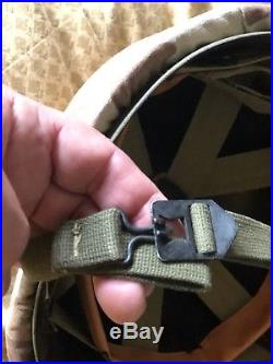 WW2 US Marine Corp M1 Helmet & Liner NEAR MINT Depot Stock. Korean War Cover EGA