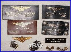 WWII And Korean War Era US Marine Corps Aviator Grouping Wings EGAs Dog Tags Etc