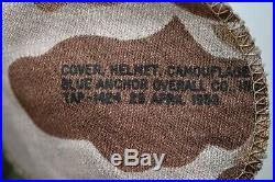 WWII/KOREAN WAR US MARINE CORPS M1 COMBAT HELMET withDATED CAMOUFLAGED COVER