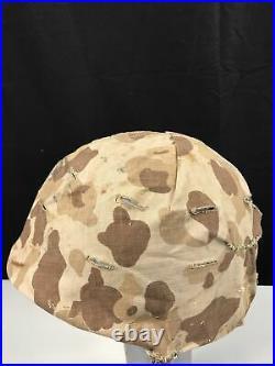 WWII Korean WAR USMC M1 Helmet Liner Camo Camouflage Cover EGA Marine Corps