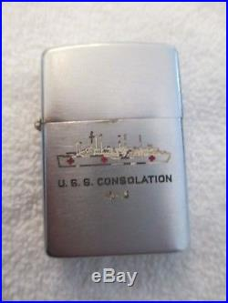 WWII Korean War Era US Navy USS Consolation Zippo Lighter Hospital Ship 2032695