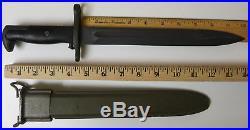 WWII Korean War Era USGI U. S. M1 Garand Bayonet Union Fork & Hoe UFH & Scabbard