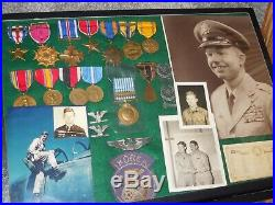 WWII Korean War JET ACE 6.5 VICTORY US Air Force Medal Document Photo Group Lot