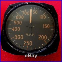 WWII & Korean War P-51D Mustang Pilots Airspeed Indicator In great shape