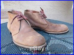 WWII, Korean War US Navy, USN Roughout Brown Pilot, Deck Shoes, Boots, Unissued