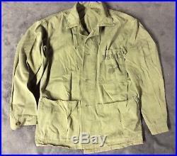 WWII / Korean War USMC Marine Corps Green Working Utility Jacket Size R 40/42