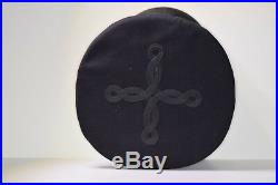 WWII /Korean War USMC Officer Dress Blues Black Barracks Cover Sterling Gold EGA