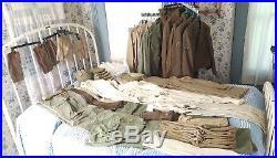 WWII Korean War Uniforms ID'd Soldier 50+ pc Eisenhower Jacket Long Wool Coat
