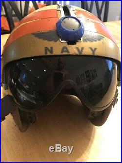 WWII Korean War era Navy Torpedo APH-5 Pilot Helmet lot