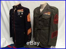 WWII/ Korean war identified 11th marine regiment, USMC uniforms