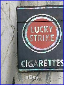 WWII LUCKY STRIKE MOP Cigarette Tobacco Case Korean War MOTHER of PEARL Japan