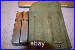 WWII M1 carbine magazines and Korean war era pouch