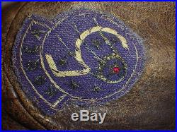 WWII USAF Korean War A-2 Jacket Mig Alley Patched Private Purchase size 36-38