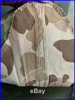 WWII WW2 Korean War M1 Helmet Frog skin Camouflage Camo USMC Marine EGA