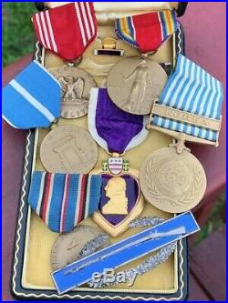 WWII WW2 Korean War Medals To KIA MIA 1st Cavalry Soldier Sterling CIB
