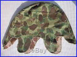 WWII WW2 USMC Marine Korean War Camo Helmet Cover